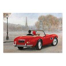 Tablou Canvas - A Ride in Paris III Red, fig. 2