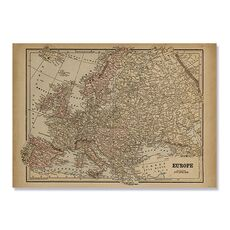 Tablou Canvas - Vintage Map of Europe, fig. 2
