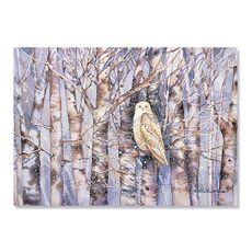 Tablou Canvas - Bufniță în ninsoare, fig. 2