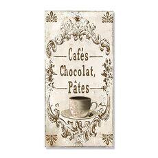 Tablou Canvas - Cafea IV, Ciocolata calda, Ceasca, Text, fig. 1