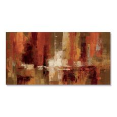 Tablou Canvas - Castaniu, Abstract, Maro, Portocaliu, Alb, fig. 2