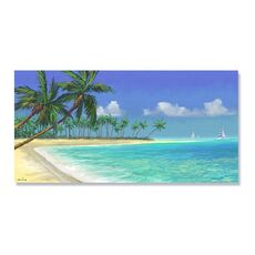 Tablou Canvas - Adiere tropicala, Mare, Palmier, Mal, Plaja, fig. 2