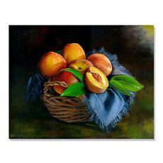 Tablou Canvas - Cos cu piersici, Natura moarta, Fructe,, fig. 2