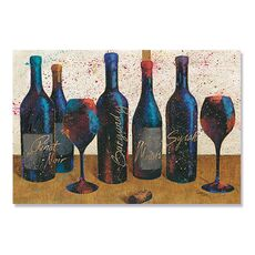 Tablou Canvas - Sticle de vin I, Pahare de vin, fig. 2