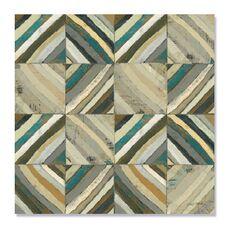 Tablou Canvas - Centrul I, Abstract, Patrat, Triunghi, Geometrie, Gri, Maro, fig. 2