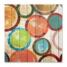 Tablou Canvas - Ambianta II, Cercuri, Buline, Maro, Verde, Rosu, fig. 2