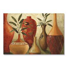 Tablou Canvas - Culori sudice I, Vaza, Plante, Maro, Retro, fig. 2