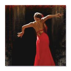 Tablou Canvas - Flamenco II, Rochie, Rosu, Dans, fig. 2