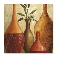 Tablou Canvas - Culori sudice III, Vaza, Plante, Maro, Retro, fig. 2