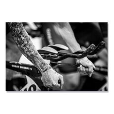 Tablou Canvas - Biciclist, Cursa, Competitie, Alb negru, fig. 1