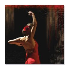 Tablou Canvas - Flamenco I, Femeie, Rochie, Rosu, fig. 2