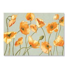 Tablou Canvas - Autumn White and Bright Poppies, fig. 2