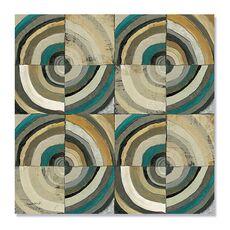 Tablou Canvas - Centrul II, Abstract, Patrat, Triunghi, Geometrie, Cerc, Albastru, Gri, Maro, fig. 2
