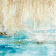 Tablou Canvas - Privire prin ceata, Albastru, Abstract, Alb, Maro, fig. 2