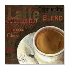 Tablou Canvas - Cappuccino, ceasca, mesaj, Maro, fig. 2