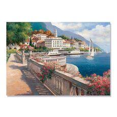 Tablou Canvas - Lacul Como, Case, Oras, Italia, fig. 1