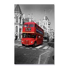 Tablou Canvas - Autobuz roșu, fig. 2