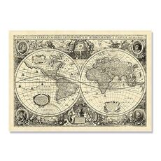 Tablou Canvas - Vintage World Map, fig. 2