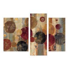 Tablou Multicanvas - Pendul, Abstract, Maro, Rosu, Negru, fig. 1