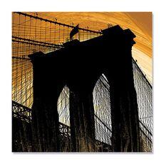 Tablou Canvas - Brooklyn in lumina, Pod, Punte, Intuneric, fig. 2