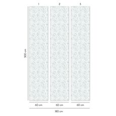 Tapet Premium - Floral, Verde, Vlies (Non-Woven), Eco Frendly, Nu necesita adeziv, Set 3 role, 5,4 mp, fig. 3