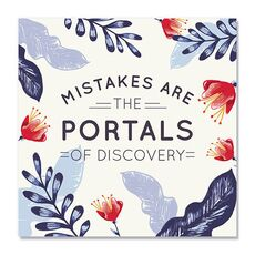 Tablou Canvas - Mistakes are the portals of discovery, fig. 2