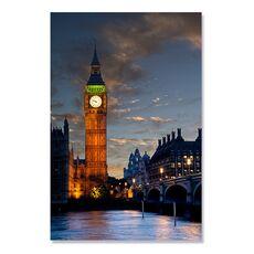 Tablou Canvas - Big Ben, Apus de soare, Lumini, Rau, Pod, Oras, Londra, fig. 2