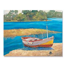 Tablou Canvas - Barca de pescuit II, Mal, Lac, Apa, fig. 1