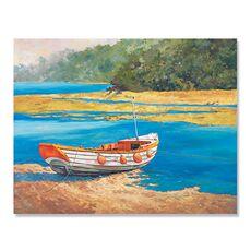 Tablou Canvas - Barca de pescuit, Mal, Lac, Apa, fig. 1