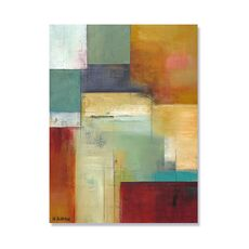 Tablou Canvas - Verde abstract, Maro, Gri, Rosu, fig. 2