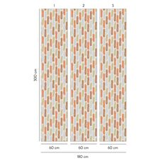 Tapet Premium - Pete, Forme, Geometric, Modern, Vlies (Non-Woven), Eco Frendly, Nu necesita adeziv, Set 3 role, 5,4 mp, fig. 3