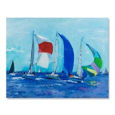 Tablou Canvas - Barci, albastru, panza, fig. 1