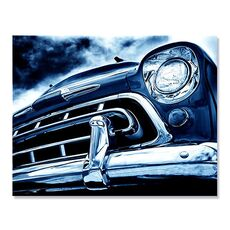 Tablou Canvas - Automobilul albastru, masina, clasic, fig. 1