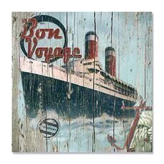 Tablou Canvas - Bon Voyage, Drum bun, vapor, calatorie, Retro, fig. 1