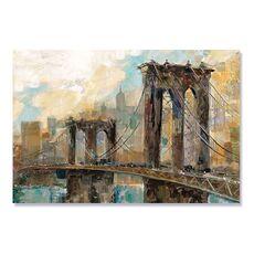 Tablou Canvas - Amintiri din Manhattan, Punte, Pod, Rau, fig. 2