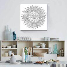 Tablou de colorat - Floral Mandala, fig. 2