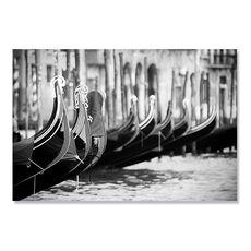 Tablou Canvas - Gondole, Venetia, Italia, Alb negru, fig. 1