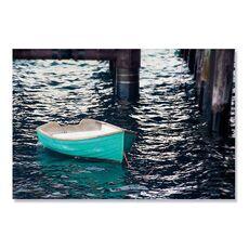 Tablou Canvas - Barca cu vasle II, Apa, Albastru, Lac, fig. 2