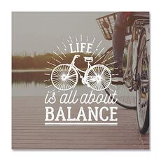 Tablou Canvas - Life is all about balance, Mesaj, Text, Bicicleta, fig. 2