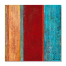 Tablou Canvas - Albastru la mijloc II, abstract, culori, Rosu, Maro, Albastru, fig. 2