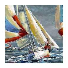 Tablou Canvas - Nautic II, Vapor, Mare, Retro, fig. 2