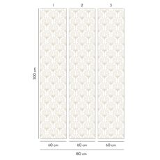 Tapet Premium - Floral, Beautiful, Old style, Luxury Ornamentation, Vlies (Non-Woven), Eco Frendly, Nu necesita adeziv, Set 3 role, 5,4 mp, fig. 3