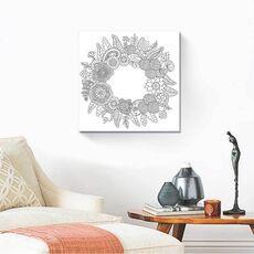 Tablou de colorat - Coroană de flori Mandala, fig. 2