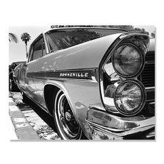 Tablou Canvas - Bonneville, automobil, masina, Alb negru, fig. 1